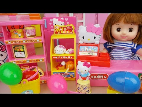Thumbnail: Hello Kitty mini mart and Baby doll surprise eggs toys play