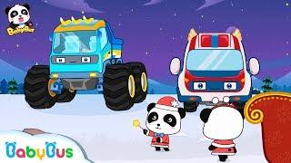 Magical Monster Car Sleigh | Baby Panda