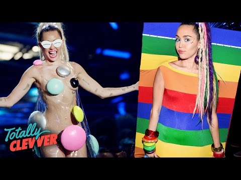 5 Weirdest Miley Cyrus Looks At 2015 VMAs (Totally Clevver)