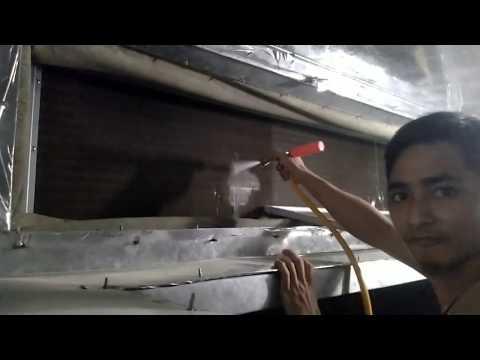 Proses Pencucian | Pembersihan Evaporator FCU ( Fan Coil Unit ) 3 phasa 2 HP | YORK YAH