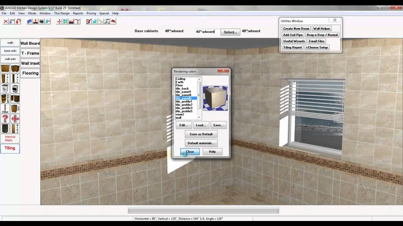 Articad bathcad tile design tutorial youtube for Tile planning software