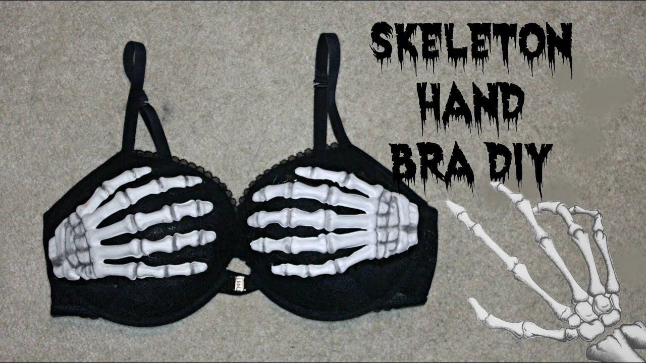 0150e7accdd46 DIY Skeleton Hand Bra  skull