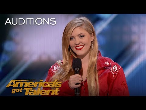 Annaliese Nock: Daredevil Daughter Takes On Dynamite Performance - America's Got Talent 2018