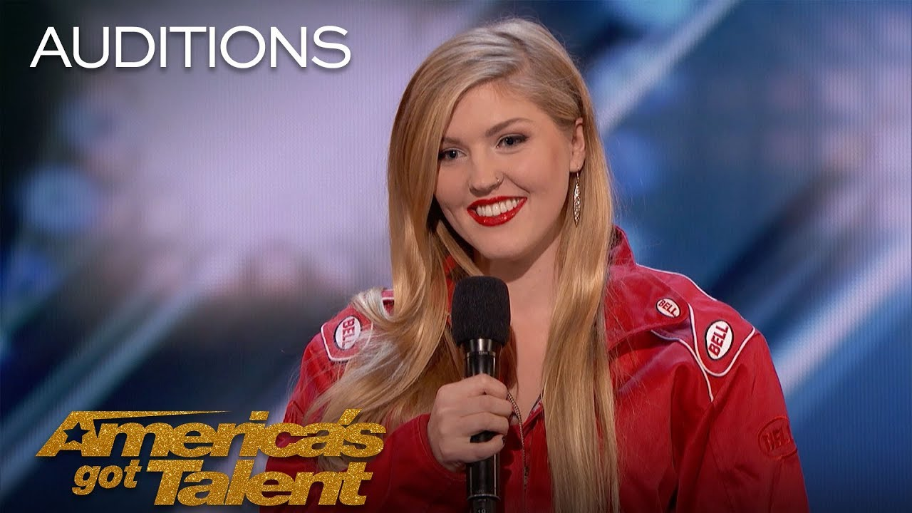 Annaliese Nock: Daredevil Daughter Takes On Dynamite Performance - America's Got Talent 2018