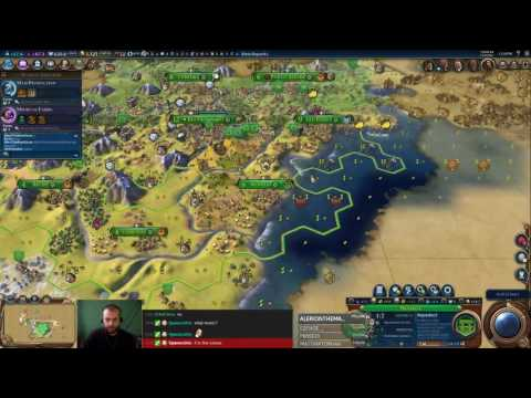 Civilization 6 Multiplayer 3: Brasil [2/3] ( 6 Player Free For All) Gameplay/Commentary