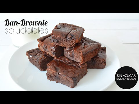 'Ban-Brownie' Brownie SIN AZÚCAR, SIN GRASAS, SIN GLUTEN | SALUDABLE