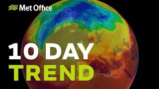 10 Day Trend - Severe thunderstorms for some, warm sunshine for others