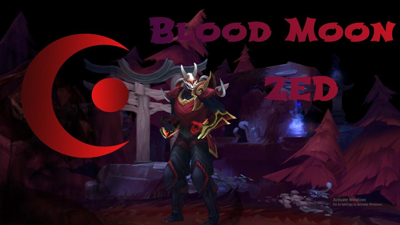 Blood moon zed custom skin spotlight by kingz3 youtube - Blood moon zed ...