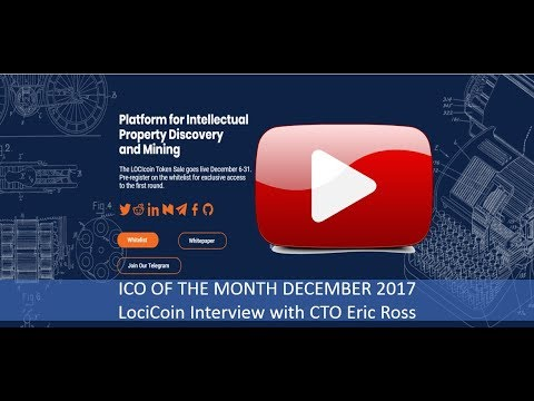ICO Pick of the Month for December LociCoin - Interview with Eric Ross