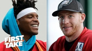 Cam Newton vs. Carson Wentz: Which QB would you rather have? | First Take