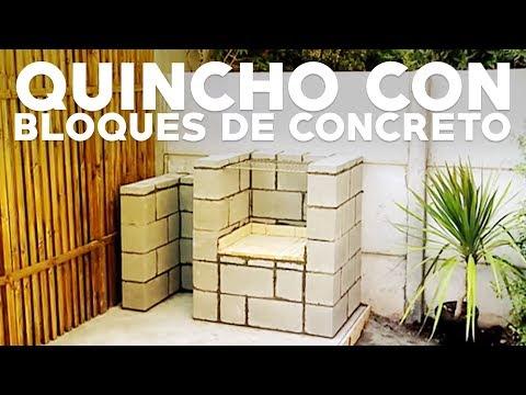 C mo construir un asador parrilla con bloques de concreto for Asadores de concreto para jardin