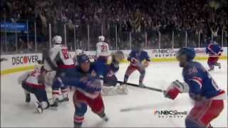 Brad Richards goal. Washington Capitals vs NY Rangers Game 5 5/7/12 NHL Hockey