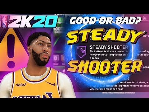 WORTH IT? NBA 2K20 (STEADY SHOOTER BADGE) AFTER UPDATE 1.02 KEVTHEKING99-YT