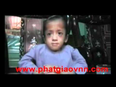 phatgiaovnn.com Bé Thùy Trang 10 tuổi luận Pháp với Chư Tôn Đức-Tăng-Ni