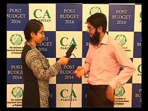 ICAP Seminar on Post Budget jun 09 2016 Karachi - Part -01