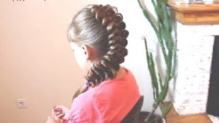 КОСЫ ( серия 1)  Коса обратная, вытянутая. Видео-урок.(Обратная вытянутая коса., 2013-08-17T14:57:26.000Z)