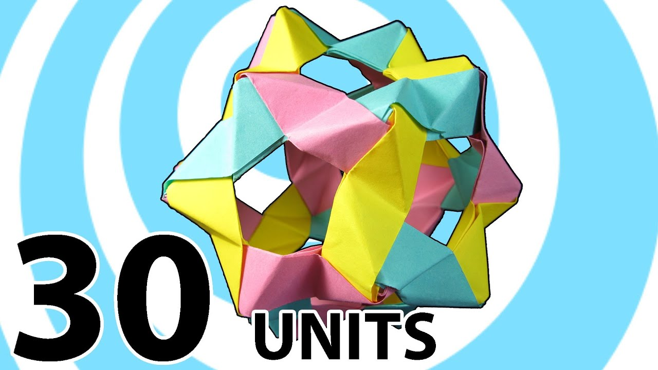 Modular Origami Buckyballs From 30 Phizz Units Instructions Youtube Diagrams