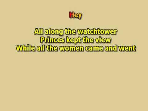 All along the watchtower Jimi Hendrix no lead guitar solos best karaoke instrumental lyrics