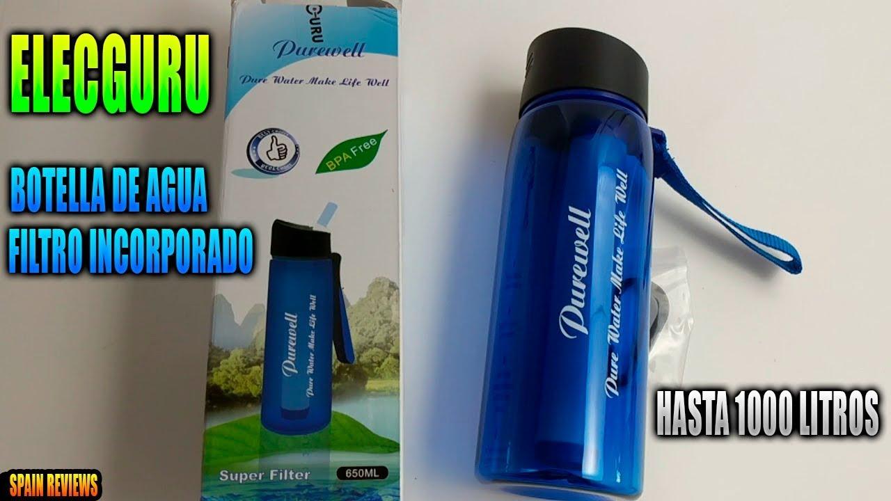 clearance sale outlet store get online Elecguru - Botella de agua con filtro de agua incorporado. Hasta 1000  litros.
