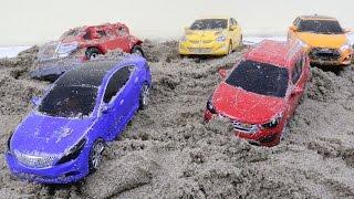 Hello Carbot sand play 카봇 모래놀이 호크 프론 에이스 스카이 트루