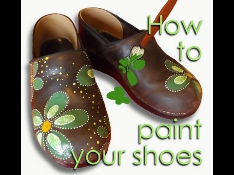 Remove Paint Leather Shoes