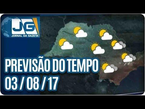 Previsão do Tempo - 03/08/2017