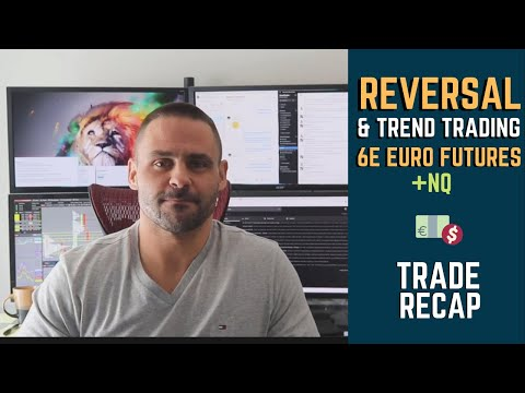 TRADE RECAP || REVERSAL TRADING & TREND TRADING (6E EURO FUTURES & NQ)