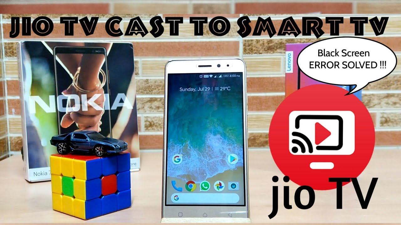 How to screen Mirror Jio TV to Smart TV - Black Screen ERROR FIXED !!! [no  root required]
