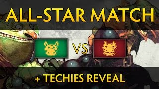 Dota 2 TI4 All-Star Game (+Techies Reveal) - Cast by SUNSfan & Lysander