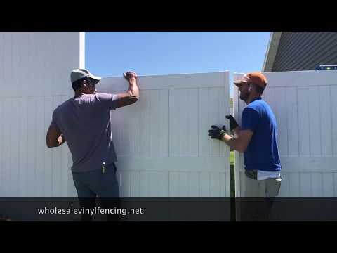 HOW TO INSTALL A DOUBLE VINYL GATE