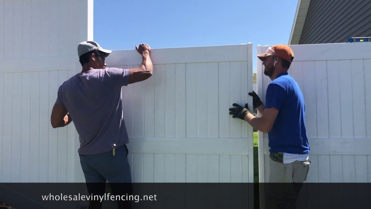 How To Install A Double Vinyl Gate You