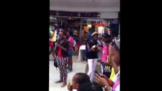 O LEKA MODIMO performance at Riverwalk Shopping Mall