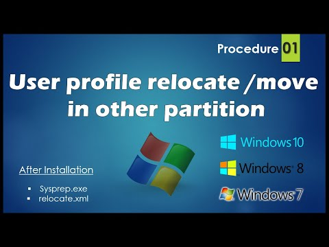 How to Relocate or Move users profile to another drive in windows 7 & 10