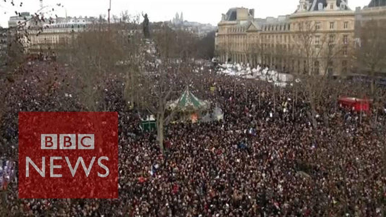paris unity march in 60 secs bbc news youtube. Black Bedroom Furniture Sets. Home Design Ideas