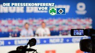 Die Pressekonferenz vor dem Auswärtsspiel bei der SpVgg Greuther Fürth