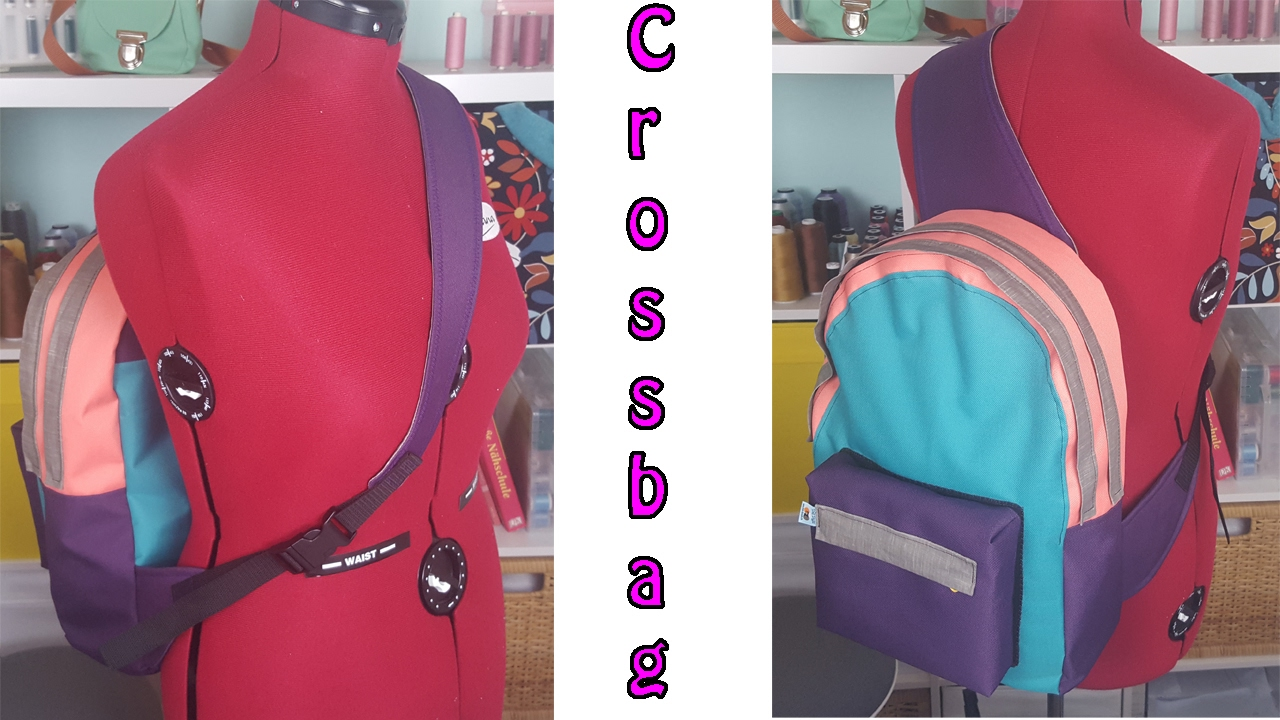 crossbag rucksack selber n hen n hen f r anf nger youtube. Black Bedroom Furniture Sets. Home Design Ideas