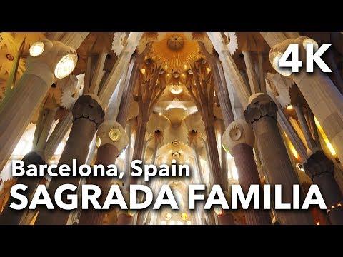 La Sagrada Familia - Antoni Gaudi Architecture in Barcelona, Spain | 2017 4K