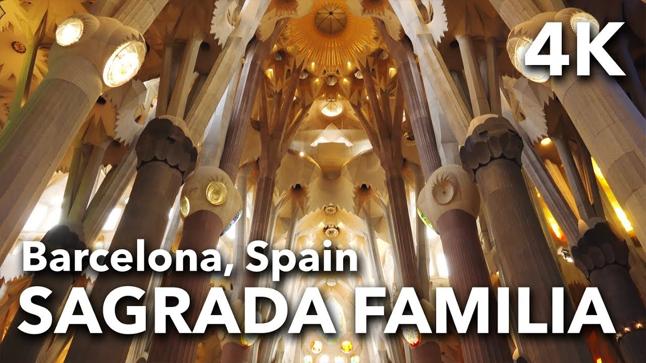 La Sagrada Familia Antoni Gaudi Architecture In Barcelona Spain 2017 4k