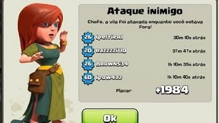 MELHOR LAYOUT CV6 TROLL FARM WAR - CLASH OF CLANS