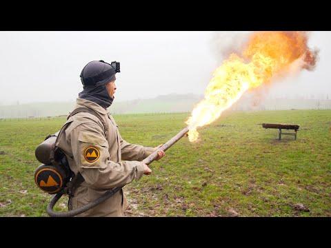 Je teste un lance flamme de guerre ! (extrême)
