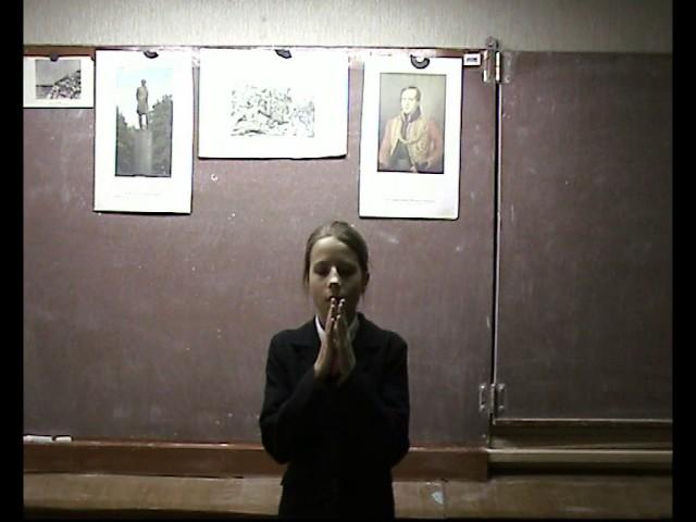 Изображение предпросмотра прочтения – ДарьяДеменкова читает произведение «Молитва (В минуту жизни трудную…)» М.Ю.Лермонтова