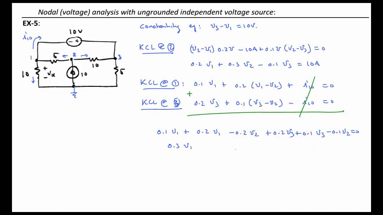 NA 5 - Nodal Analysis: The floating voltage source and the