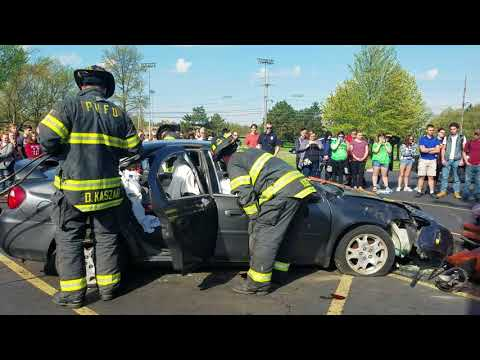 Valley Forge High School mock car crash 2018