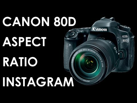 Canon 80D How to change aspect ratio quickly | Sharing pictures made easy |
