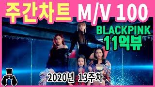 [주간차트 2020년 13주차] 금주의 KPOP 아이돌 뮤직비디오 순위 100 - 2020년 3월 29일 |…