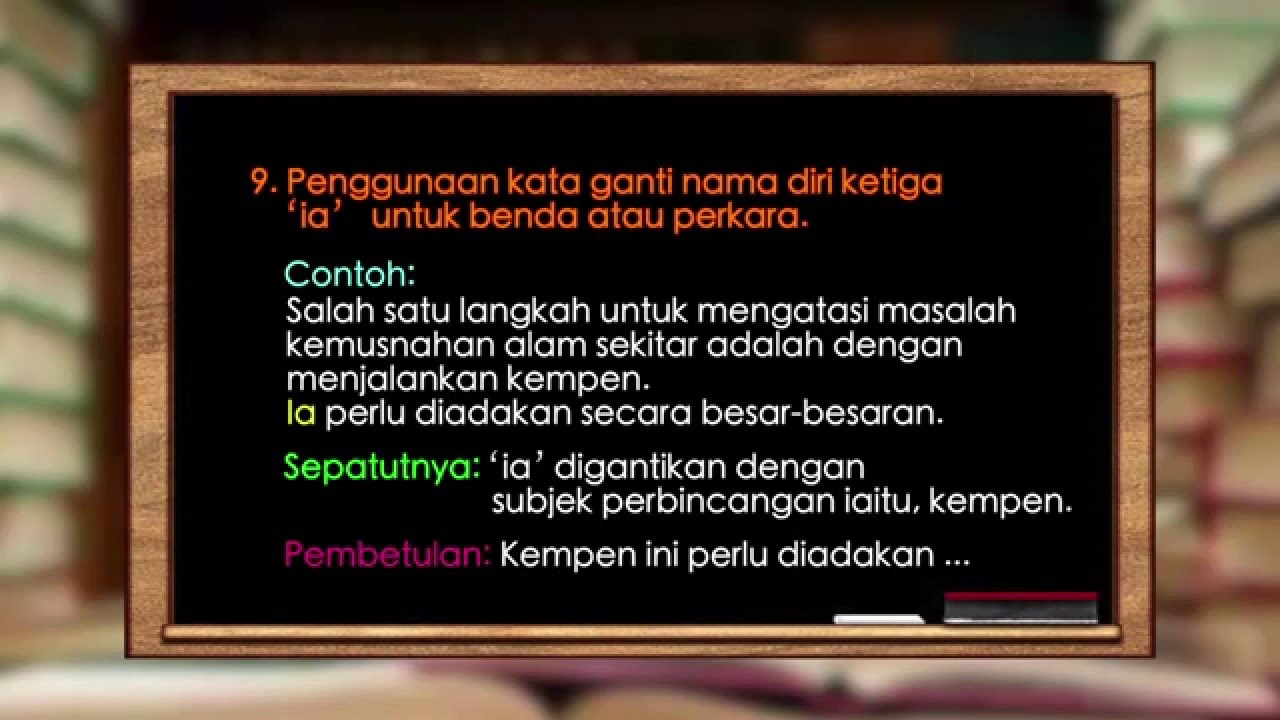 Eduwebtv Bahasa Melayu Spm Mengenal Pasti Kesalahan Ayat Kata Atau Istilah Dan Tatabahasa Youtube