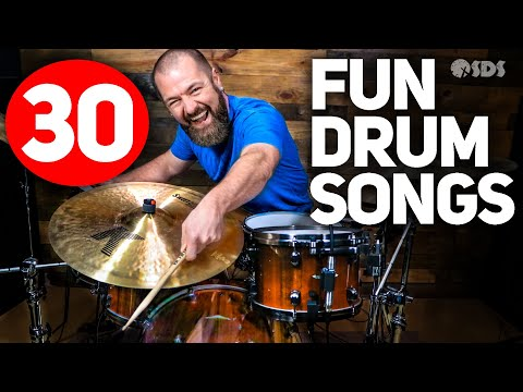 30 Fun/Easy Songs For Drums