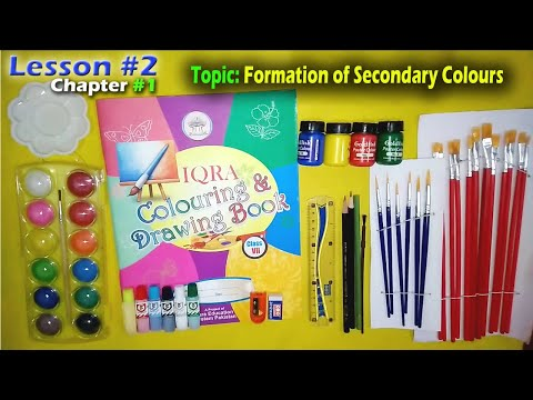 vii-drawing-lesson-#-02-chapter-#-01-topic:-instructions-&-formation-of-secondary-colours