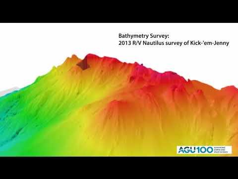 Bathymetry Study of the Kick-'em-Jenny Volcano