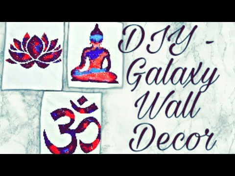 Diy – Galaxy Print Canvas Wall Art – Youtube